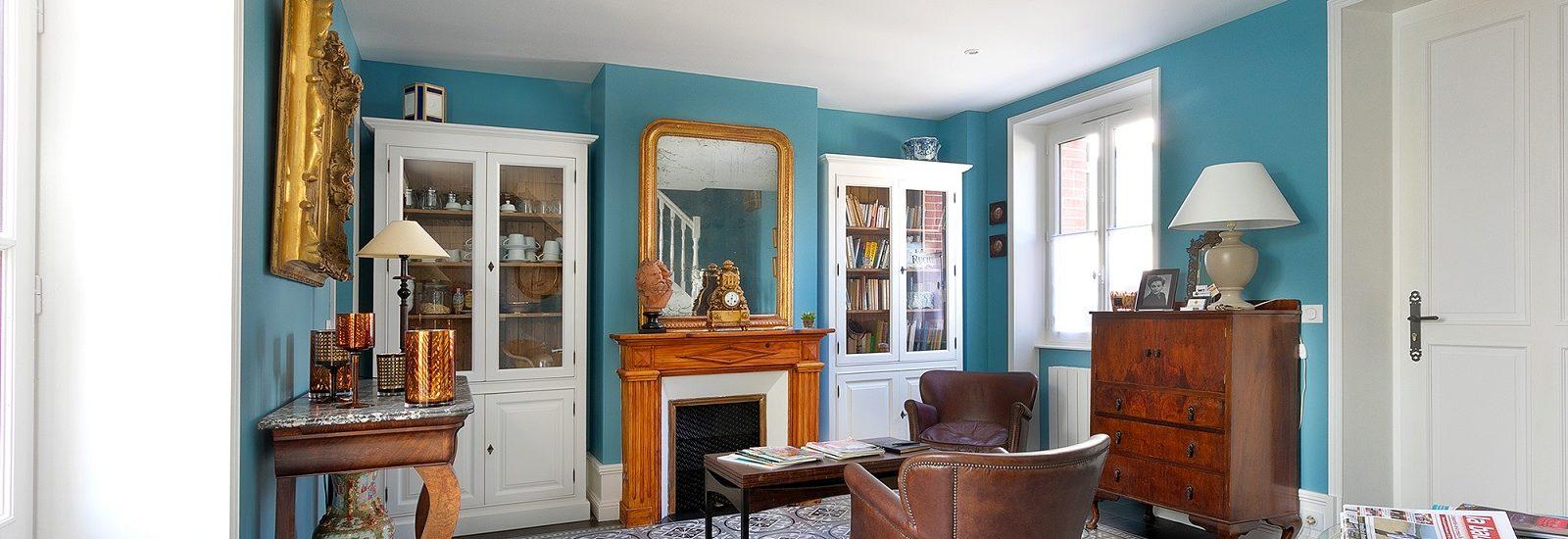 salon villa la ruche chambre d'hôtes charme luxe haut de gamme la baule plage benoit